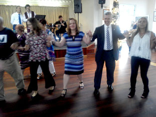 The Consul General of Greece with his join the  President of the Messinians on the dance floor