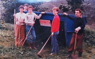 Bauhütte in Weilburg Ende der 80er Jahre
