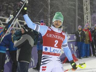 Felix Neureuther fuhr in Levi auf den dritten Platz. Foto: Markku Ojala
