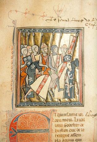 Histoire d'Outremer de Guillaume de Tyr, f°16 r, Acre.
