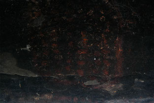 FIngerprint markings of bushmen in a cave near a farm in South Africa.