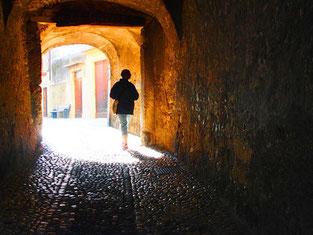 alle Wege führten irgendwie zum Castello Scaligero