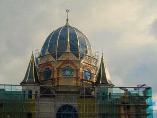 prachtvoll renoviert wird gerade die jüdiwche Synagoge