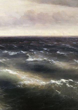 """Ivan Aivazovsky, """"Il mare nero"""", (1881) (particolare)"""