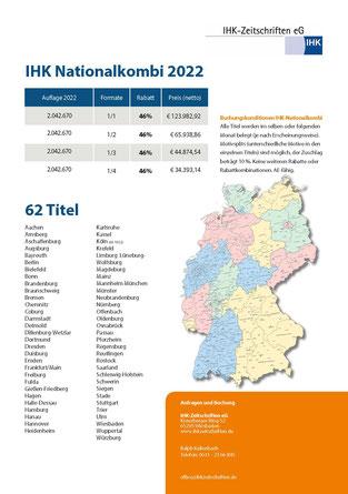 IHK-Nationalkombi Factsheet, IHK-Kombi, IHK-Anzeigen