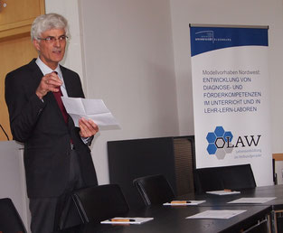 Das Verbundprojekt OLAW zieht eine erfolgreiche Bilanz. Projektsprecher Johann Sjuts präsentiert zentrale Ergebnisse. Foto: Niesel