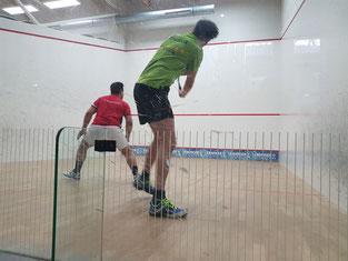 Mustafa Jodehl zeigte vollen Einsatz, musste sich jedoch dennoch geschlagen geben