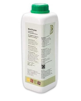 Multihysan ist ein Reiniger und Desinfektionsmittel auf der Basis ätherischer Pflanzenöle.