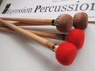 Angebot es Monats: Expression Percussion Timpani Mallets mit Lederkopf und Stoffkopf zum günstigen Sonderpreis.