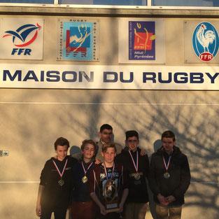 Clément Vignon, Amaury Hubert, Philippe Lecomte, Adrien Bousquet, Elliot de Labarre et Octave Lavaux