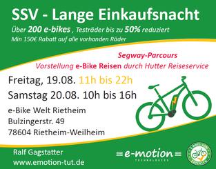 Sommerschlussverkauf e-motion e-Bike Welt Tuttlingen