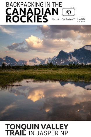 Detailed description of the Tonquin Valley Trail in Jasper National Park. One of the most famous multi-day hikes in the Canadian Rockies. This guide will help you with planning the Tonquin Valley hike, booking the campsites and choosing the best route.