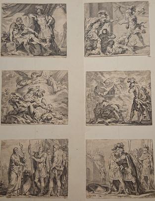 Eisen, vignettes d'illustration, XVIIIème siècle.