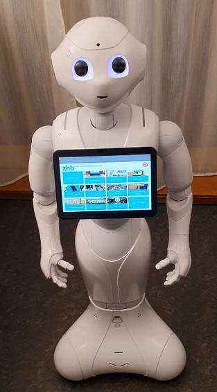 Pepper Roboter an der ZHB