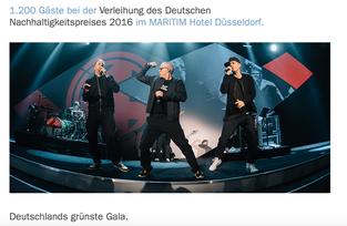 """Die """"Fantastischen Vier"""" erhalten den Ehrenpreis des Deutschen Nachhaltigkeistpreises 2016"""