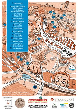 Offene Ateliers in Lübben - Karte von Atelier Franzka+Ascher