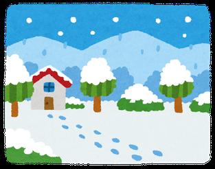 雪のイメージイラスト