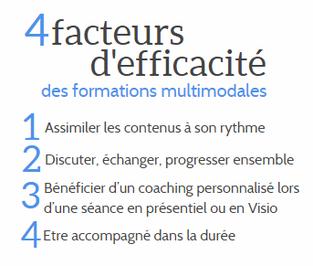 4 facteurs d'efficacité des formations multimodales  par Gisèle Taelemans