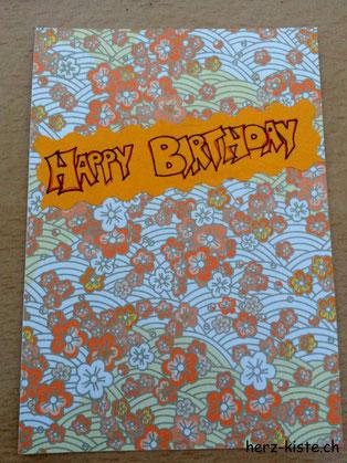 Happy Birthday - Geburtstagskarte einfach selber machen (Schritt 1)