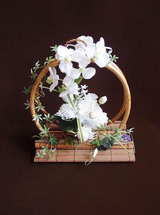 お盆 造花アレンジメント