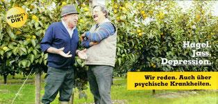 Bauern, Plakat, psychische Krankheiten