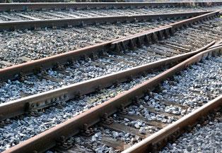 Geleise, Schienen, Bahnhof