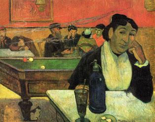 ポール・ゴーギャン「夜のカフェ」