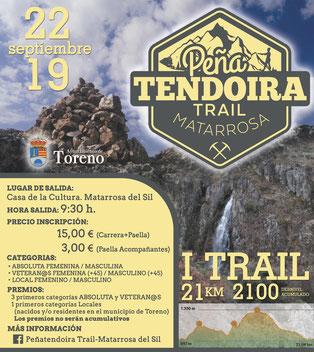 I PEÑATENDOIRA TRAIL - Matarrosa del Sil, 22-09-2019