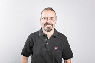 Claudio Brasser von der Firma Brasser AG in Zizers bei Chur, Tontechniker und Lichttechniker