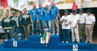 2008 Alla Cannisti Castel Maggiore Hydra la Coppa Italia : Armiraglio Giancarlo, Zucchi Franco, Chiarini Giacomo, Vanoli Fulvio .