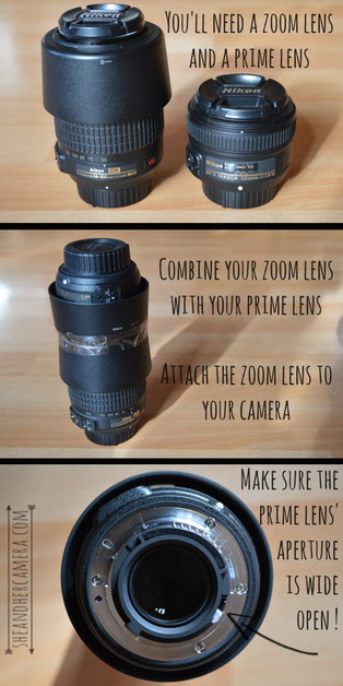 How to get extreme macro shots using two lenses - Tutorial