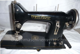 Textima Geradestich-Flachbett-Nähmaschine (Bilder: I. Weinert)