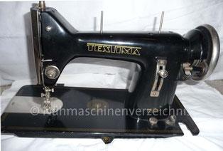 Textima Geradestich-Flachbett-Nähmaschine, Hersteller: VEB Nähmaschinenwerke Saalfeld (Bilder: I. Weinert)
