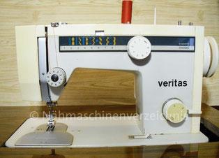 Veritas 8014-39  Programm-Automatik (16 Programme), Flachbett, Schrank/Koffer-Haushaltsnähmaschine, Hersteller: VEB Nähmaschinenwerk Wittenberge (Bilder: I. Naumann)