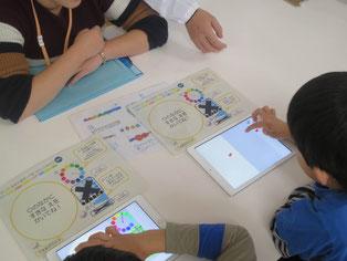 補助教材を参考に、対象物を描く方法を学習