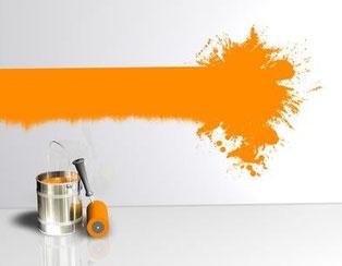 Wir erledigen Malerarbeiten jeder Art für Sie.
