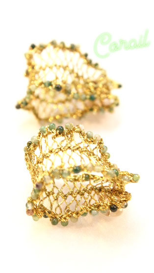 Earring CORAIL (collection CAVIAR)
