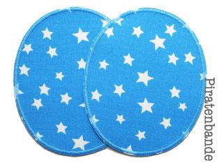 Bild: 2 Knieflicken Sternchen hellblau