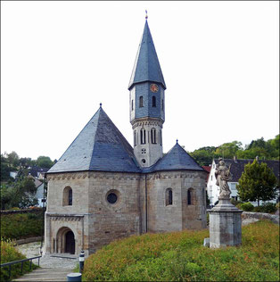Grünsfeldhausen: Achatiuskapelle,                                                 Foto: W. Busl