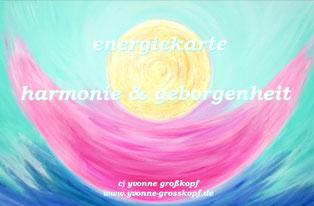 energiekarte harmonie & geborgenheit, 8,50€