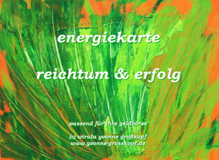 energiekarte reichtum & erfolg, je 8,50€