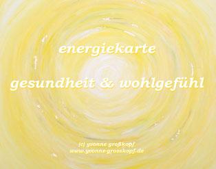 energiekarte gesundheit & wohlgefühl, 8,50€