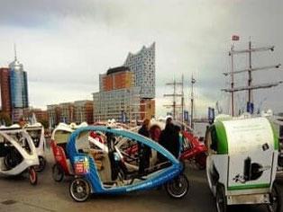 Hamburg, Rikscha, Eventmobil, Messemobil