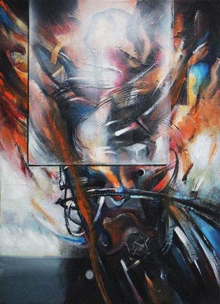 La busquedad / Acrylic on canvas / 24 x 23 inches