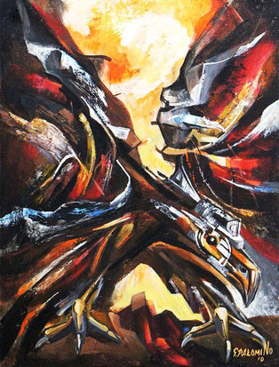 Aguila de mineria / Acrylic on canvas / 24 x 20 inches