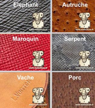 Estimation Malle Louis Vuitton en cuir vachette porc crocodile serpent elephant