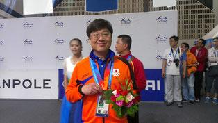 銅メダルの森陽一郎選手 撮影by水下広之選手