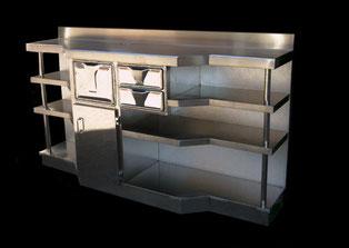 mueble frio industrial acero inoxidable para bar