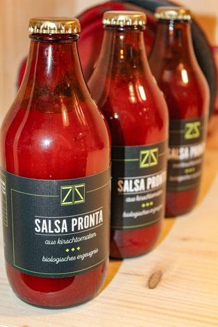 Bio Tomatensoße aus Kirschtomaten, salsa pronta, biologisch