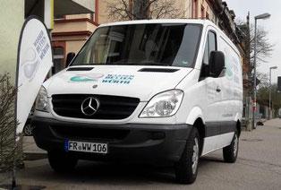 Wasserbetten Würth Freiburg Transporter für Lieferung und Montage